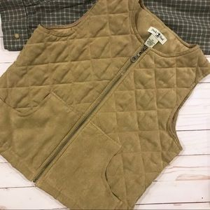 DUCK HEAD Petite Quilted Tan Vest PS